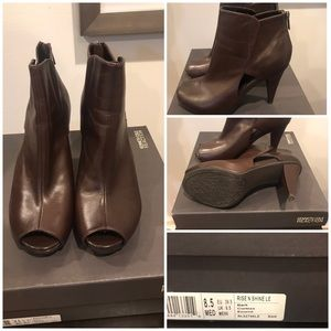 Kenneth Cole Reaction Peep Toe Booties
